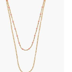 Madewell Neon Coral Layering Necklace